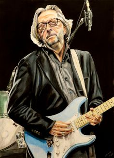 Rock And Roll Painting - Eric Clapton by Chris Benice Music Artwork, Art Music, Soul Music, Eric Clapton Guitar, The Yardbirds, Social Art, Blues Rock, Fleetwood Mac, Music Icon