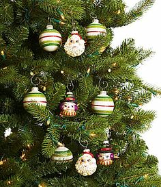 Christopher Radko Shiny Brite Holiday Splendor Figural and Rounds 9Piece Ornament Set #Dillards