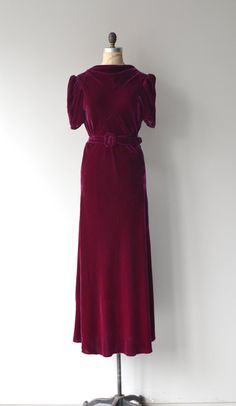 Pirazzini silk velvet dress 1930s silk velvet dress by DearGolden