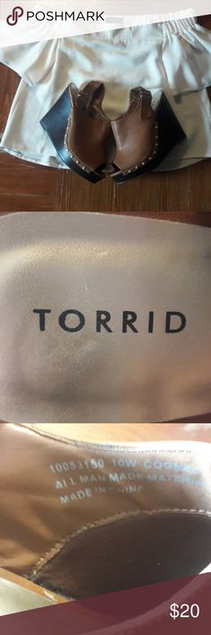 Torrid Wedges •few scratches that are visible  •well taken care wedges •size 10 torrid Shoes Wedges