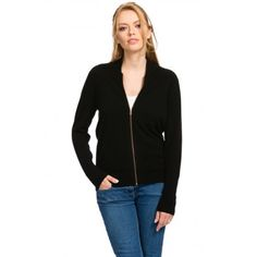 Black Long Hooded Cardigan, 100% Cashmere, Open Front, Citizen ...