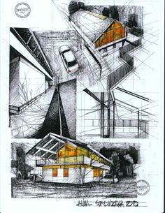 House at the beach, by one of the greatest romanian architects Horia Creanga Horia Creanga Revit Architecture, Architecture Visualization, Landscape Architecture, Architecture Drawing Sketchbooks, Architecture Sketches, Architectural Design Studio, Architecture Presentation Board, Building Sketch, House Sketch