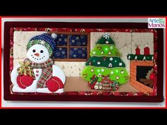 How to Make a Christmas Box in Patchwork without a Needle Steampunk, Quilted Ornaments, Christmas Crafts, Christmas Ornaments, Advent Calendar, 3 D, Diy And Crafts, Techno, Youtube