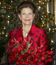 MYROYALS &HOLLYWOOD FASHİON: Queen Silvia 70th Birthday Celebrations - Reception at the Royal Palace, Stockholm, December 18, 2013-Queen Silvia