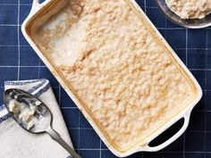 Baked Rice Pudding: Vanilla, orange zest and cinnamon are key to the great flavor of this rice pudding. Bake everything together and serve warm.