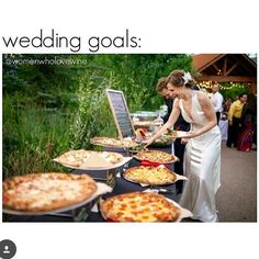 Wedding Goals - Pizza Buffet