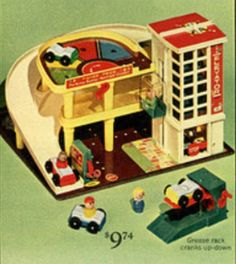 Fisher Price Action Garage.....this was favorite toy when I was a kid