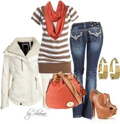 A fashion look from November 2012 featuring shirt tunic, Denham and skinny jeans. Browse and shop related looks. Simple Outfits, Cute Outfits, Professional Wear, Love Fashion, Womens Fashion, Autumn Winter Fashion, Winter Style, Quilted Leather, Jeans Style