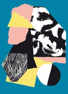 Artist Postcard Series No_ 3 Poketo X Atelier bingo geometric pattern art Illustration Inspiration, Inspiration Art, Graphic Design Inspiration, Art Inspo, Illustration Art, Art Du Collage, Digital Collage, Digital Art, Pop Art
