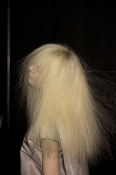 backstage at Rick Owens F/W 2013 at PFWphotographed by Kasia Bobula for T magazine