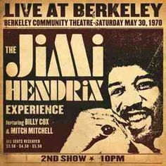 Jimi Hendrix - Live at Berkeley 2 Record Set  Legendary 2nd Show Cut from the Original Analog Masters by Bernie Grundman & Pressed on 200g  Virgin Vinyl at Quality Record Pressings! #sunshinedaydream #hippieshop
