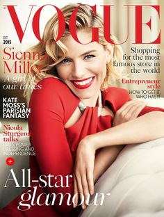 Sienna Miller on Vogue UK October 2015 Cover