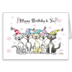 Free Singing Birthday Cards Happy Cat Gifts Illustration