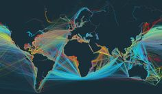 Global shipping in a narrated interactive map | FlowingData