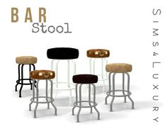 Bar stool at Sims4 Luxury via Sims 4 Updates