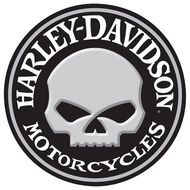 Harley Davidson Willy Skull Sign