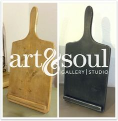 Wash 'n Wax (iPad Holder Chalk Paint® Class) - learn about Chalk Paint® by painting this cool iPad/tablet holder for your kitchen!!  How cool is that?!?