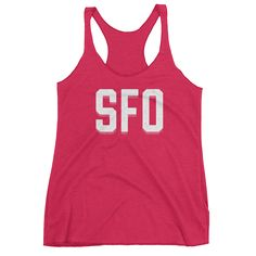 Crush brunch in the bay area with this triblend Women's tank top. It's soft and breathable, with a racerback style gives it a sporty feel that's ideal for walking all of the hills in that damn city.