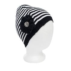 I love the Betsey Johnson Baby Stripe Beanie from LittleBlackBag