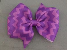 Purple Chevron Bow $3.00 www.facebook.com/treasuresbyhand