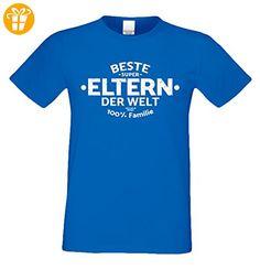 Geschenk-Set : Herren T-Shirt und Urkunde : Beste Eltern der Welt Geschenkidee : Geschenk für Papa zum Vatertag Geburtstag Weihnachten auch Übergrößen Farbe: royal-blau Gr: 3XL (*Partner-Link)
