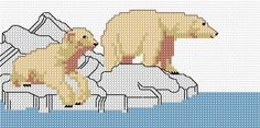 Polar Bears Free Cross Stitch Pattern Chart