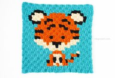 Introducing my Zoodiacs, a collection of Chinese zodiac animals in a graph design, perfect for C2C or graphghan crochet. First up is the Zoodiacs Tiger!