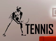 Tennis Wall Sticker Sports Decal Home Gym Decorations Bedroom Dorm Kids Room Removable Decor Girl Vinyl Wall Art Mural A154