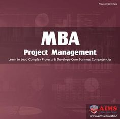 MBA Project Management Degree MBA Project Management is designed for professionals willing to boost their skills and lead complex projects for medium to large size organizations. These skills are blended with core business management concepts. Project management degree online incorporates flexibility and convenience for busy professionals. Its study contents are professionally developed, engaging, and up to date .... #MBAProjectManagement #ProjectManagementDegree