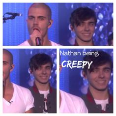 Nathan being Creepy :P The Wanted