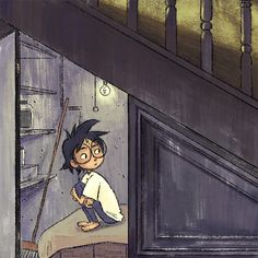 Cupboard under the stairs harry potter fans 56 super ideas Arte Do Harry Potter, Harry Potter Drawings, Harry James Potter, Harry Potter Universal, Harry Potter Fandom, Harry Potter Characters, Harry Potter World, Harry Potter Memes, Fanart