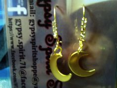 Crescent Moon Earrings $7.00 Each Plus S & H )♥(