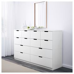 IKEA offers everything from living room furniture to mattresses and bedroom furniture so that you can design your life at home. Check out our furniture and home furnishings! Ikea Inspiration, Ikea White Dresser, Nordli Ikea, Ikea Closet, Closet Storage, Wardrobe Room, White Chests, Chest Of Drawers, Ikea Drawers