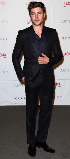 black on black. suit. face. eyes. ZEfron. Zac Efron.
