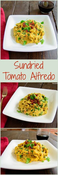 Sundried Tomato Alfredo - healthy vegan recipe that's easy to make! Paleo, low carb dinner idea