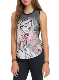 Disney Alice In Wonderland Floral Girls Muscle Top | Hot Topic