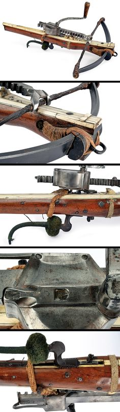 A crossbow with its windlass, Germany, ca. 17th century.