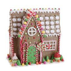 "RAZ Imports - Multicolored Gingerbread House 11"""