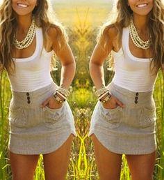 White Patchwork Grey Pockets Irregular Mini Dress - Mini Dresses - Dresses
