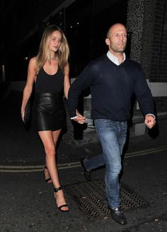 Rosie Huntington-Whiteley - Rosie Huntington-Whiteley and Jason Statham Hold Hands in London