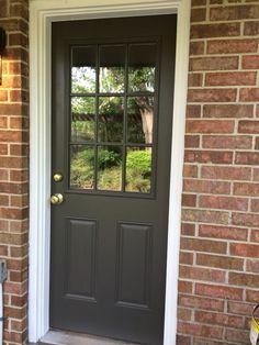 Sherwin Williams Urbane Bronze exterior door