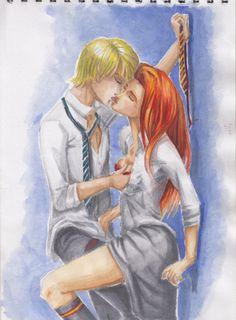 Scorpius Malfoy & Rose Weasley by Bell`ova