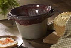 Old Mill's Pottery Bread Baker brings old world appeal to your home baked breads. Can't wait to use mine. Love the Old Mill in Pigeon Forge, TN. Wheel Throwing, Advanced Ceramics, Clay Studio, The Potter's Wheel, Bread Bowls, Pigeon Forge, Studio Ideas, Bakeware, Bread Baking