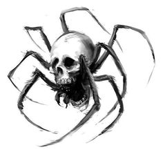 Best Spider Skull Tattoo Design