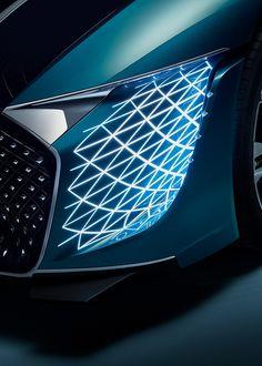 DS-X CONCEPT CAR on Behance Car Interior Sketch, Trophy Design, Lighting Concepts, Car Headlights, Futuristic Cars, Love Car, Transportation Design, Car Lights, Automotive Design