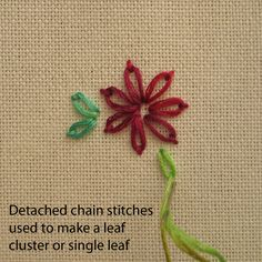 detached chain vs. lazy daisy stitch