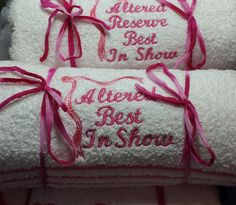 Embroidered Towel Trophies