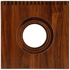 For Sale on - A solid teak pair of three sided interlocking nesting tables with large circle cut outs and box cut joinery which next to form a cube. Cube Table, Nesting Tables, End Tables, Teak, Stool, Mirror, Decor Ideas, Furniture, Mesas
