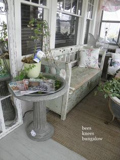 10 New Uses for Old Items • Great Ideas & Tutorials! • Including this birdbath turned into table from bees knees bungalow.