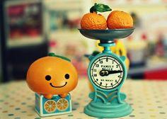 Find images and videos about cute, kawaii and orange on We Heart It - the app to get lost in what you love. Mini Things, All Things Cute, Beautiful Things, Kawaii Chibi, Kawaii Cute, Rilakkuma, Desu Desu, Cute Clay, Kawaii Shop